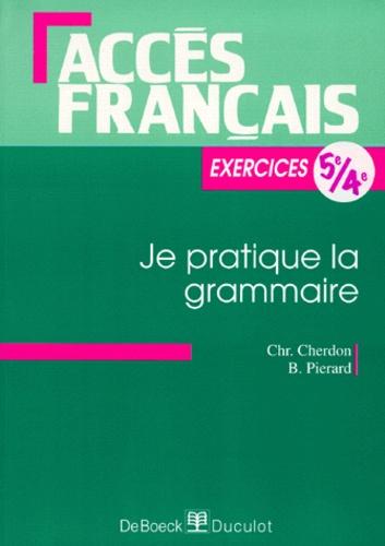Francais 5eme 4eme Je Pratique La Grammaire Exercices
