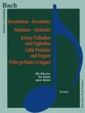 Bach - Bach - Inventions - symphonies petits préludes et fugues - Pour piano - Partition.