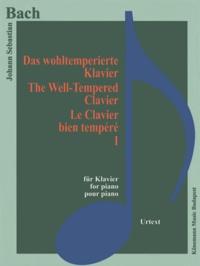 Bach - Bach - le clavier bien tempéré I - Pour piano - Partition.