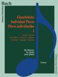 Bach - Bach - Pièces individuelles I suites, danses, sonates - Pour piano - Partition.