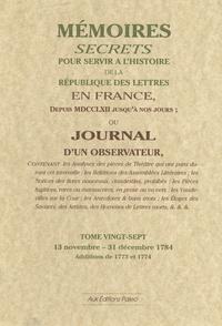 Openwetlab.it Mémoires secrets ou Journal d'un observateur - Tome 27, 13 novembre-31 décembre 1784 Image