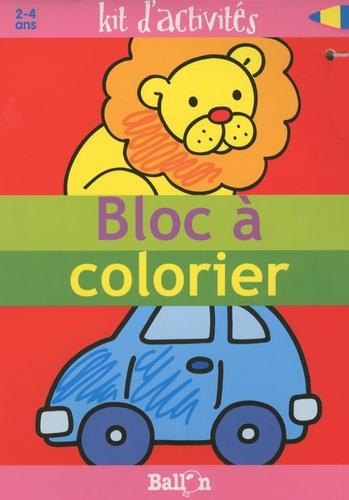 Ballon - Bloc à colorier - Kit d'activités 2-4 ans.