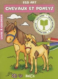 Ballon - Chevaux et poneys - Livre à colorier.