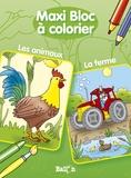 Ballon - Maxi bloc à colorier - Les animaux, la ferme.