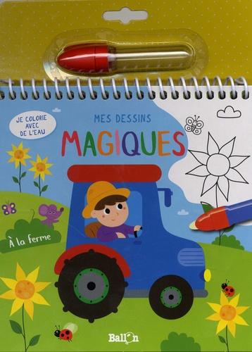 Ballon - Mes dessins magiques A la ferme - Je colorie avec de l'eau. Avec un feutre.