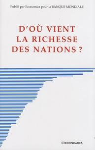 Banque Mondiale - D'où vient la richesse des nations ?.