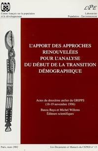 Banza Baya et Michel Willems - L'apport des approches renouvelées pour l'analyse du début de la transition démographique.