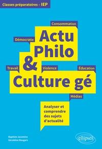 Baptiste Jacomino et Géraldine Maugars - Actu Philo & Culture gé.