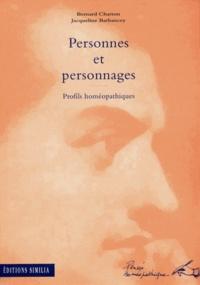 Barbancey et  Charton - Personnes et personnages - Profils homéopathiques.