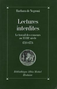 Barbara de Negroni - Lectures interdites.