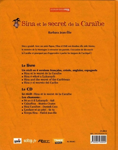 Sina et le secret de la Caraïbe  avec 1 CD audio