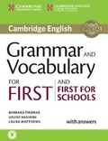 Barbara Thomas et Louise Hashemi - Grammar and Vocabulary for First and First for Schools with Answers.