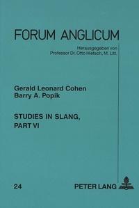 Barry a. Popik et Gerald l. Cohen - Studies in Slang - Part VI.
