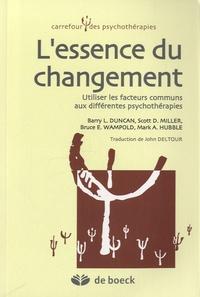 Deedr.fr L'essence du changement - Utiliser les facteurs communs aux différentes psychothérapies Image