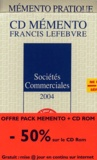 Barthélémy Mercadal et Philippe Janin - Sociétés commerciales 2004 Pack livre + CD-ROM.