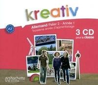 Hachette Education - Kreativ Allemand palier 2, année 1 - Support pour la classe. 3 CD audio