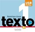 Hachette FLE - Texto 1 A1 Numérique classe - Méthode de français. 1 Clé Usb
