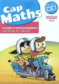 Roland Charnay et Georges Combier - Mathématiques CE1 cycle 2 Cap Maths - Pack en 3 volumes : Cahier grandeurs et mesures, espace et géométrie ; Fichier d'entraînement nombres et calculs ; Le Dico-Maths, répertoire des mathématiques.