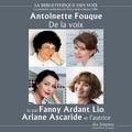 Antoinette Fouque et Fanny Ardant - De la voix.