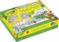 Julie Mercier - Crayola Coloriages et stickers en feutrine - 1 livre de coloriages, 10 crayons de cire Crayola, 600 stickers (330 en feutrine), 6 tableaux à compléter.