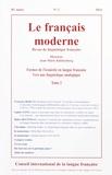 Jean-Marie Klinkenberg - Le français moderne Tome 82 N° 2/2014 : Formes de l'iconicité en langue française, vers une linguisitique analogique - Tome 2.