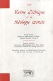 Laurent Lemoine - Revue d'éthique et de théologie morale N° 274, juin 2013 : .