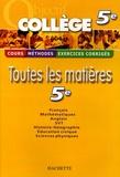 Pierre Curel et Isabelle de Lisle - Toutes les matières 5e.