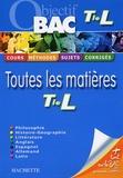 Jean-Rémy Cuenot et Jean Duma - Toutes les matières Tle L.