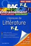 Véronique Brémond-Bortoli - L'épreuve de Littérature Te L.