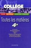 Isabelle de Lisle et Pierre Curel - Toutes les matières 4e.