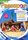 Marie-Hélène Robinot-Bichet et Gérard Caparros - Passeport 3 matières de la 6e à la 5e - Français, maths, anglais.
