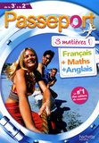 Isabelle de Lisle et Pierre Curel - Passeport 3 matières de la 3e à la 2nde - Français, Maths, Anglais.