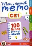 Christel Cordonnier et Jean-Etienne Hérété - Mon carnet mémo CE1.