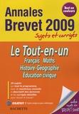 Brigitte Réauté et Michèle Laskar - Le Tout-en-un Brevet - Sujets et corrigés.