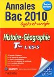Catherine Guillerit et Faustine Rocha - Histoire-Géographie Tle L-ES-S - Sujets et corrigés.