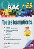 Alexandre Blin et Sabine Bobée - Toutes les matières 1e ES.