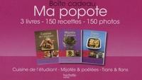 Aude de Galard et Rina Nurra - Ma popote - Boîte cadeau 3 volumes : cuisine de l'étudiant ; Mijotés & poêlées ; Tians & flans.