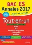 Tout-en-un Tle ES : Sujets et corrigés / Jean-Pierre Haure, François Lavandier, Laurent Braquet, David Mourey | Haure, Jean-Pierre