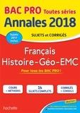 Michel Corlin et Alain Prost - Français, Histoire-Géo-EMC - Sujets et corrigés.