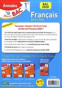 Français 1re. Sujets & corrigés  Edition 2020