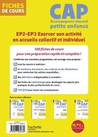 CAP Accompagnant éducatif petite enfance. EP2 - EP3 Exercer son activité en accueils collectif et individuel - Fiches de cours