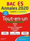 Jean-Pierre Haure et François Lavandier - Tout-en-un Tle ES - Sujets et corrigés.