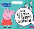 Hachette - Mon cherche et trouve à colorier Peppa Pig.