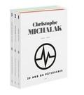 Christophe Michalak - 20 ans de pâtisserie - Coffret en 3 volumes : Epoque Plaza Athénée, Epoque Master Class, époque Michalak Paris.