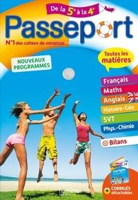 Marie-Françoise Dréano et Pierre Reynaud - Passeport Toutes les matières de la 5e à la 4e.