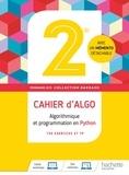 Eric Barbazo - Algorithmique et programmation en Python 2de Barbazo - Cahier d'algo (cahier d'exercices et TP).