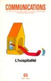 Seuil - Communications N° 65 : L'HOSPITALITE.