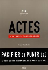 Pierre Bourdieu - Actes de la recherche en sciences sociales N° 174, Septembre 20 : Pacifier et punir (2).