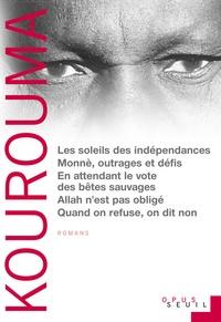 Ahmadou Kourouma - Les Soleils des indépendances ; Monnè, outrages et défis ; En attendant le vote des bêtes sauvages ; Allah n'est pas obligé ; Quand on refuse on dit non ; Le Diseur de vérité.