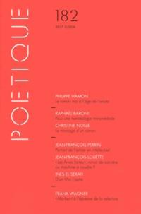 Collectif - Poétique N° 182/2017-2 : .